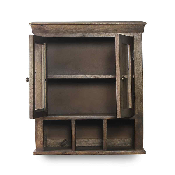 Solid Wood Double Door Bathroom Cabinet 3