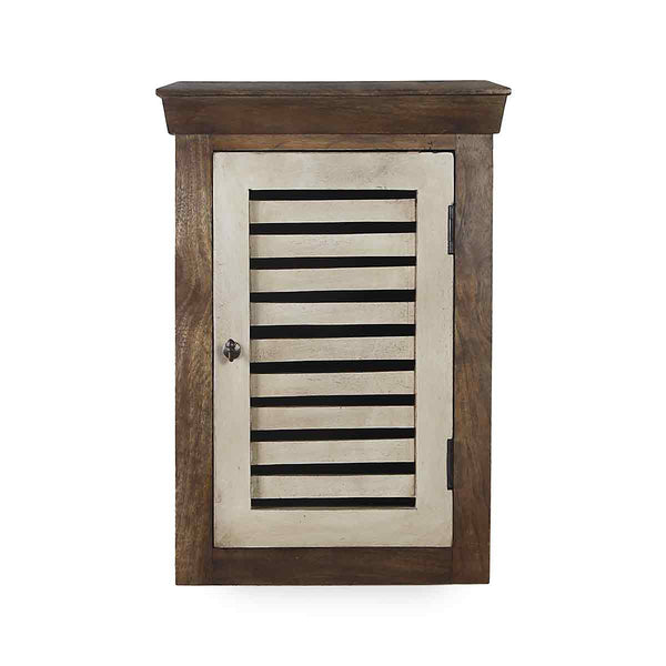 Cappi Solid Wood Vintage White Wall Shelve 2