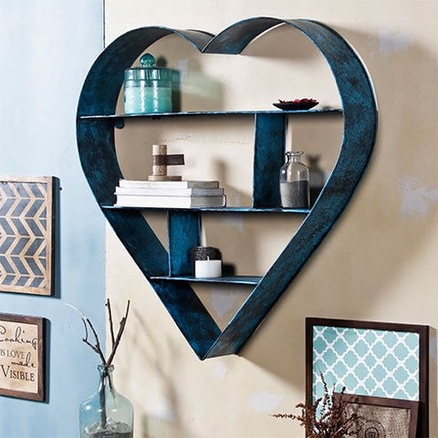 Ashton Dusky Blue wall Shelf Large 1