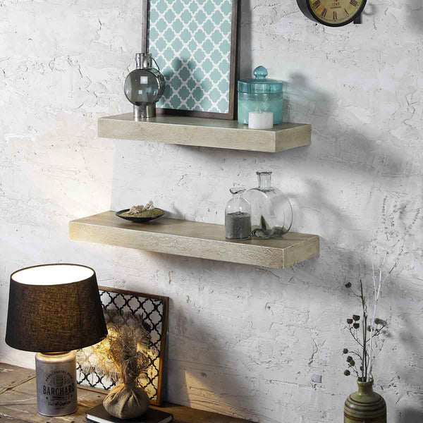 Ashton Antique White Wall Shelf