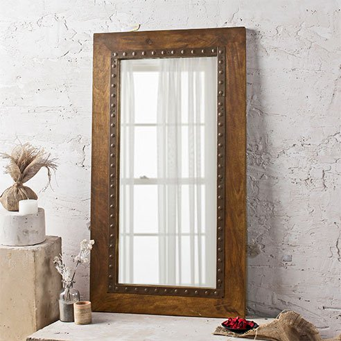"Savannah Light Brown Mirror L:20"" X H:32"""
