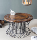 Alek Wood Iron Coffee Table