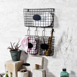 Strellon black wall shelf