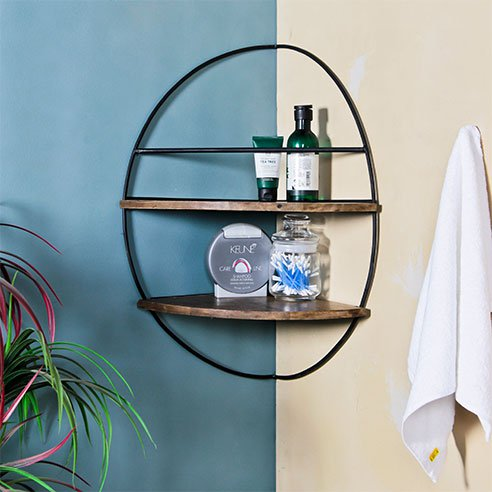 Lindon Corner Bathroom Wall Shelf