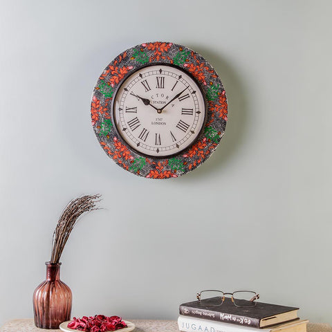 Everdene Multicolour MDF 11 Wall Clock