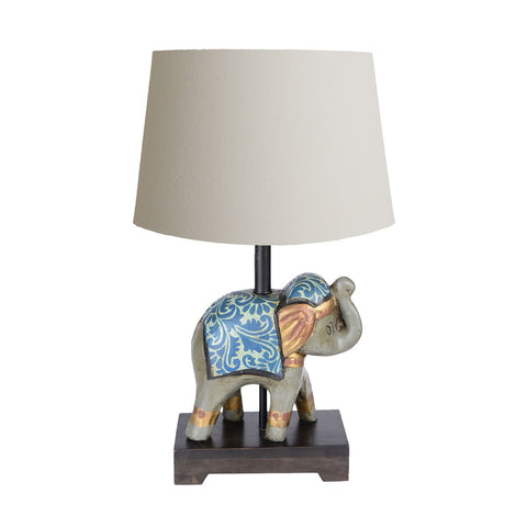 Buy Teracotta Blue Elephant Lamp Online in India