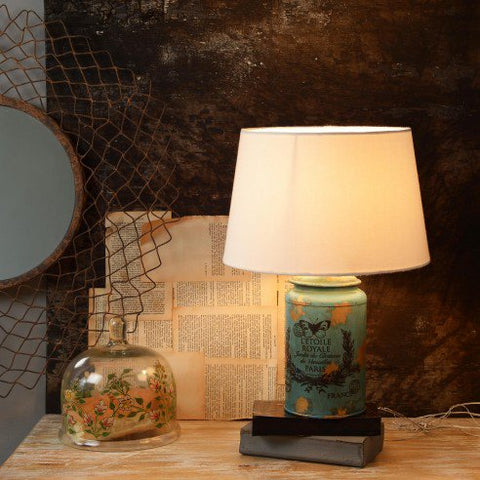 Cocoon Blue-Golden table lamp 1