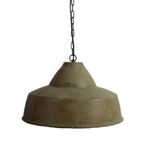 FABULIV Teracotta Vintage Green Antique Pendant Lamp 2