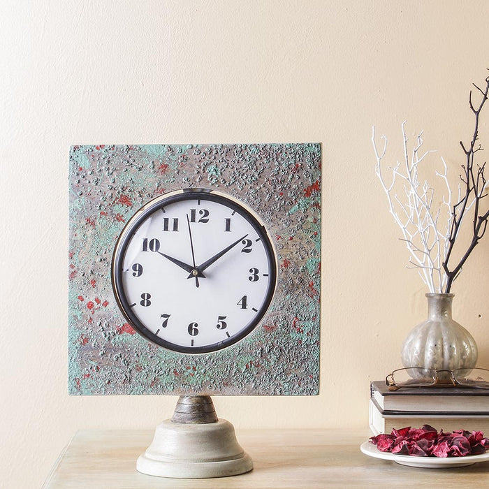 Camrose Distress 12 Square Table Clock