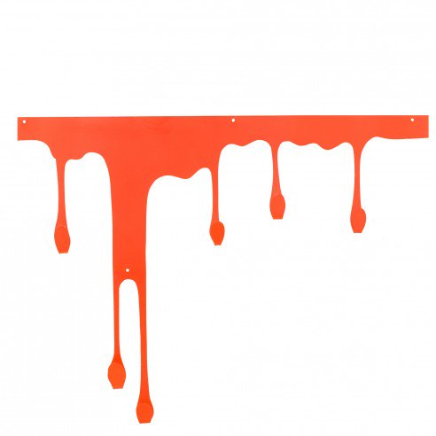 1FABULIV Colourful wall hook orange