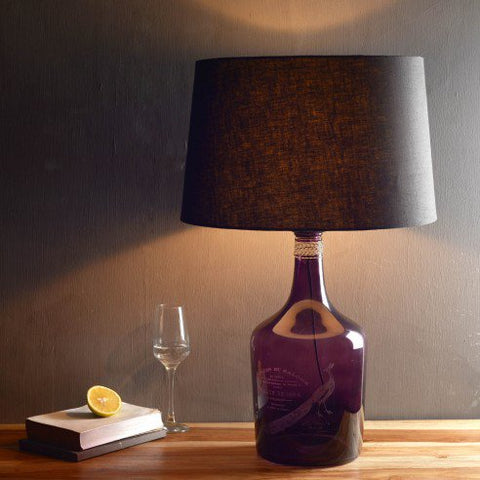 Buy Alvin Large Purple Table Lamp Online India
