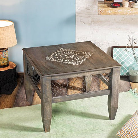 Baroque Smokey Grey End Table