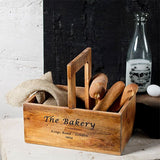 Rustic wooden food caddy