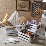 Roso white set of 4 wooden crates