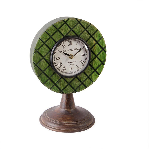 Elmira Wood Green 11 Table Clock b