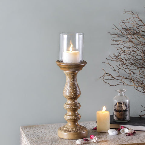 Ellie Beige Candle Holder