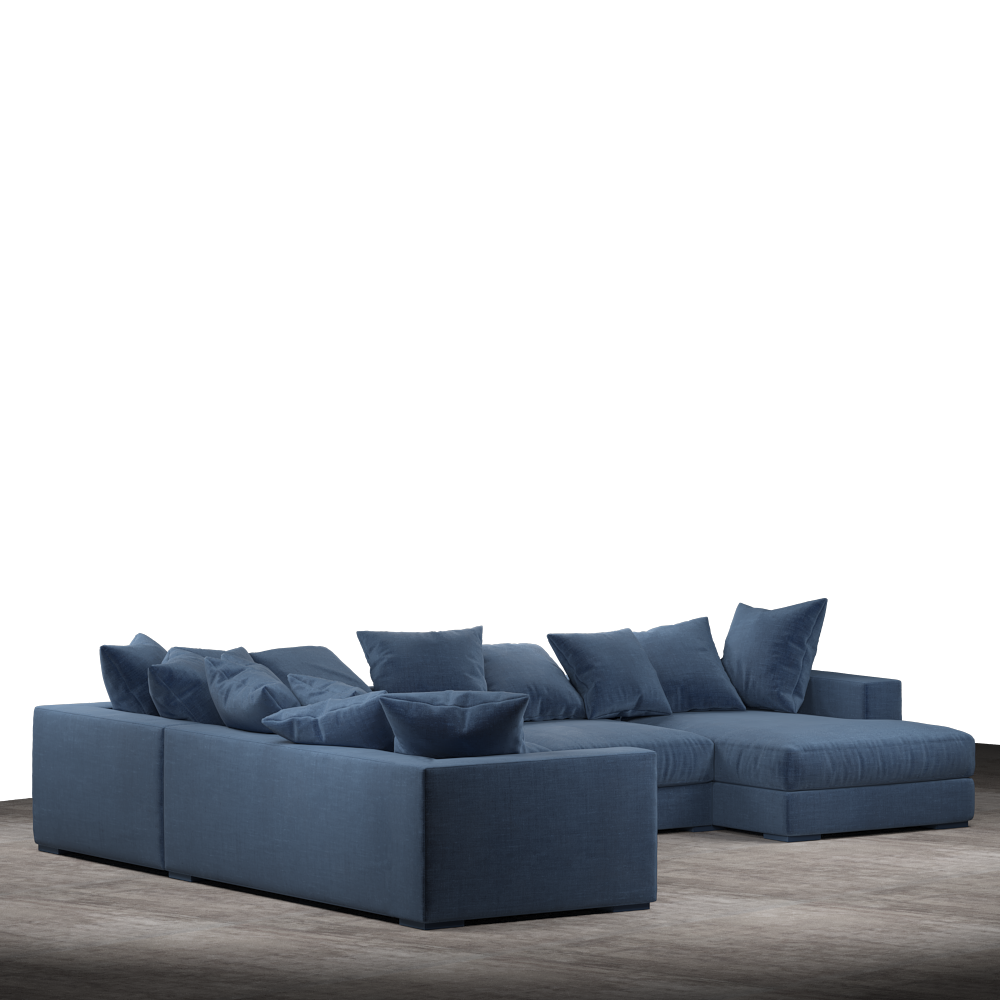 Striado Upholstered Sofa With Chaise Sectional