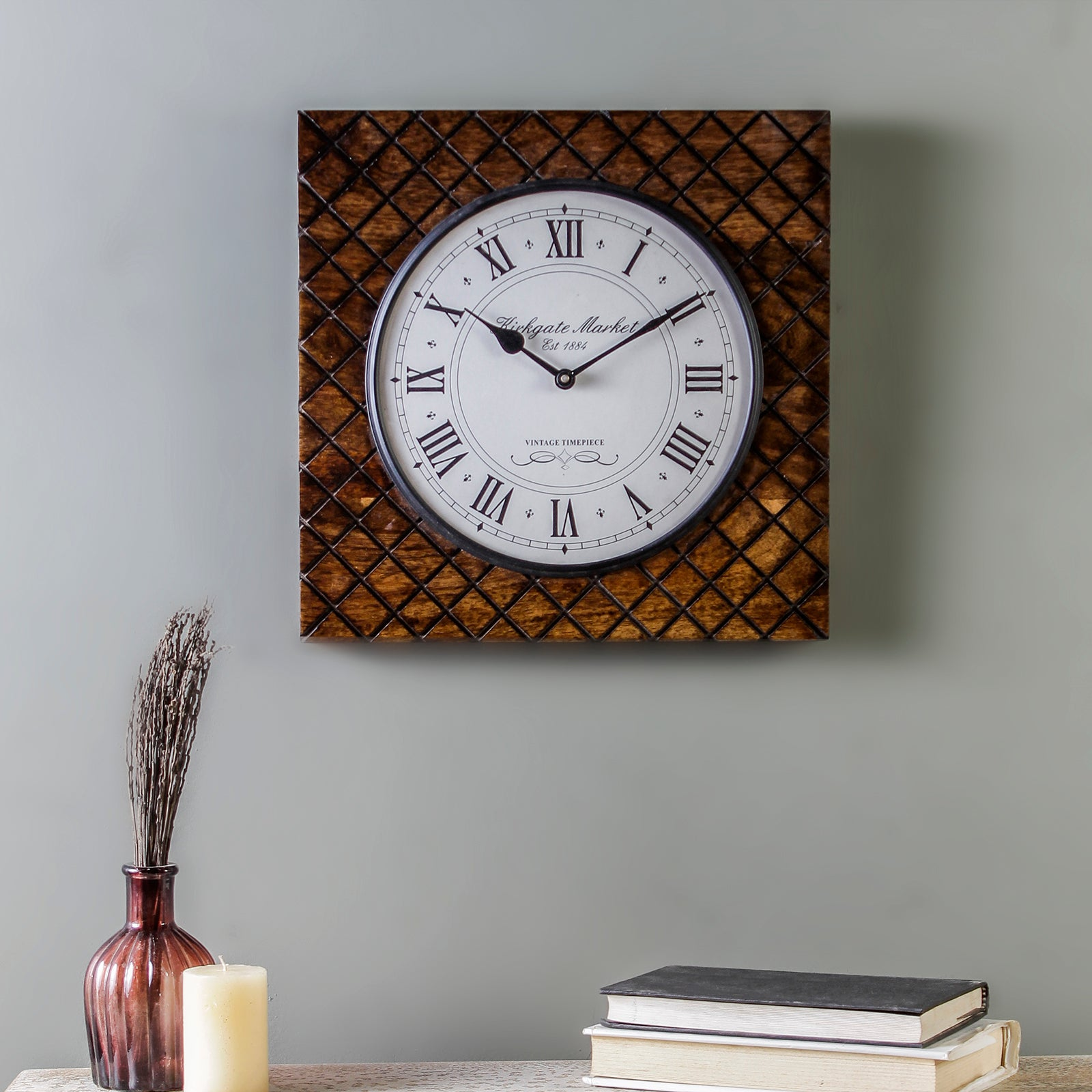 "Buy Madras 13"" Square Wall Clock online"