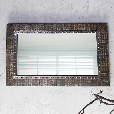 Coastal Wheathered Bathroom Mirror