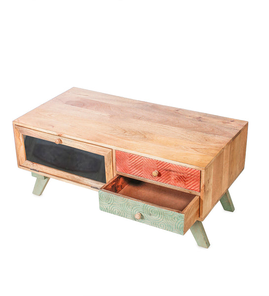 Pasita Wooden Coffee Table in 2 Sizes