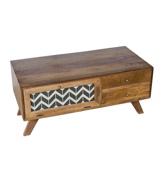 Cheveron Blue Coffee Table in 2 Sizes