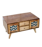 Carlos Wooden Coffee Table in 2 Sizes