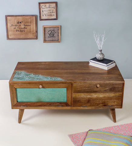 Buy Grapy Green Wooden Coffee table online