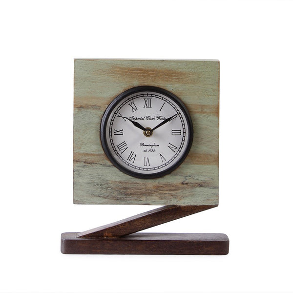 Camrose Rustic 9 Square Table Clock a