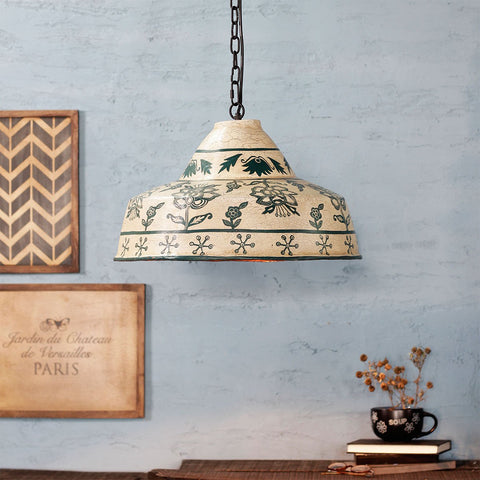 Estella White antique Pendant