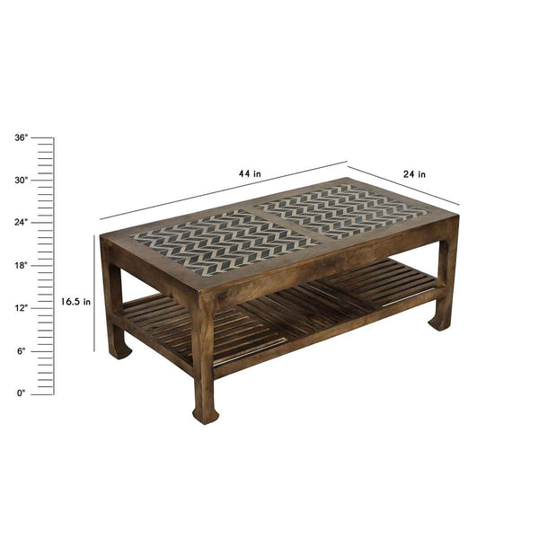 Ashley Maple Rectangular Coffee Table 1