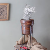 Sordello brown colour rustic vase