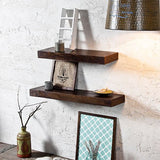 Wood Walnut Wall Shelves