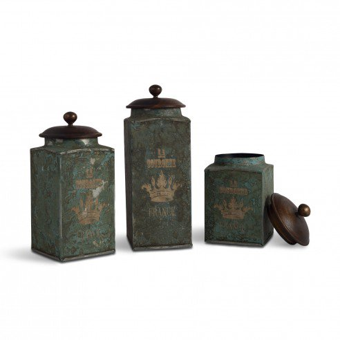 2FABULIV VINTAGE Green Antique Boxes (Set of 3)