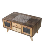 Carlos Hand Painted Coffee Table in 2 Sizes