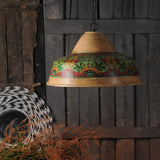 Vintage Hand Painted Ecomix Pendant Lamp