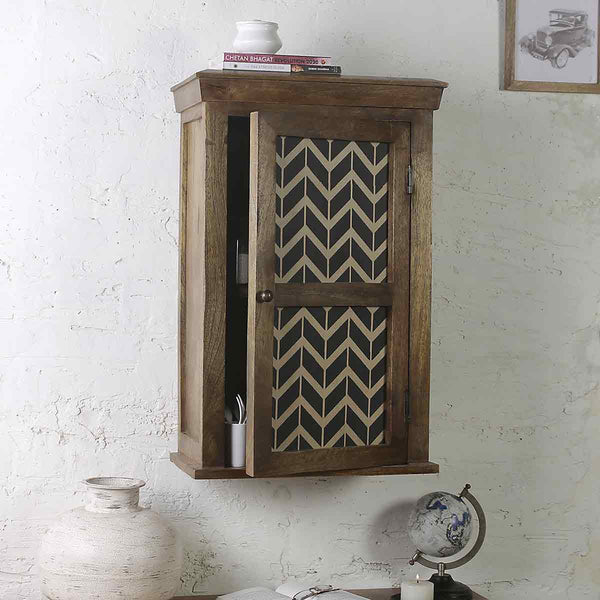Alba Solid Wood Hand Painted Wall Shelve 1