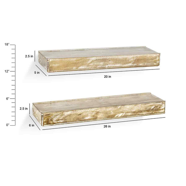 Ashton Distress White Wall Shelf