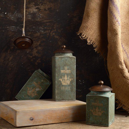 FABULIV VINTAGE Green Antique Boxes