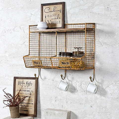 Persian industrial wall shelf