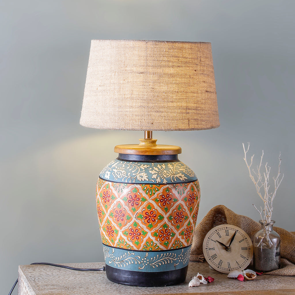 Buy Onova Hand painted Table Lamp By Fabuliv