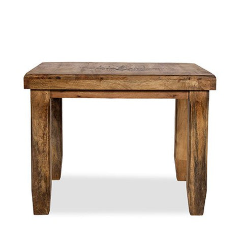 Baroque Natural Square End Table 1