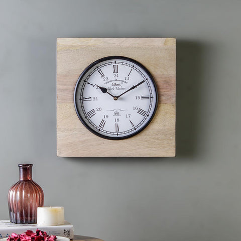 Madras Ivory 11 Square Wall Clock