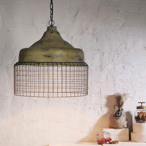Vintage Green Ecomix-Wire Pendant Lamp