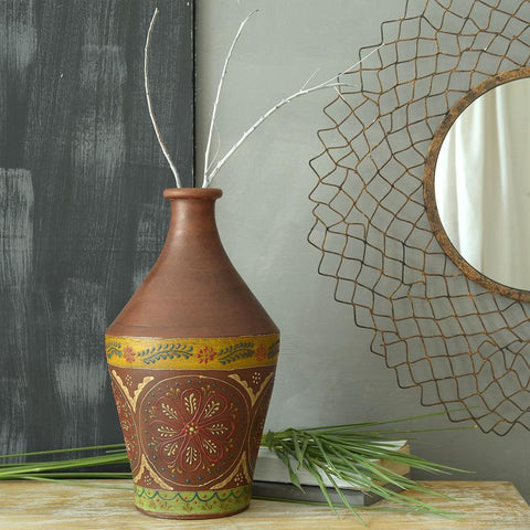 Antique Terracotta Outdoor Vase