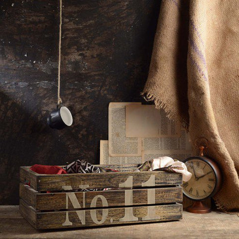 Ewen Dark Wooden Crate