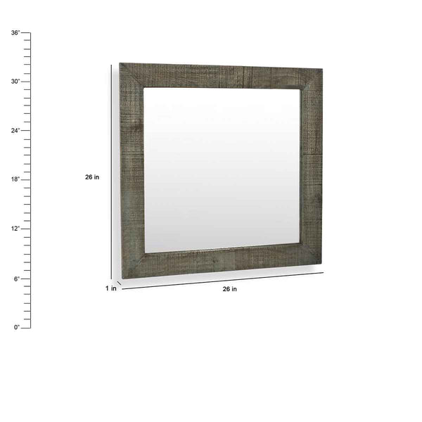 "Coastal HandCrafted Bathroom Mirror 26"" W X 26"" H"