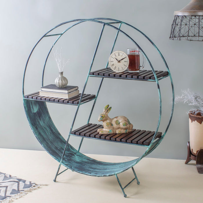 Metal Aqua Floor Shelf