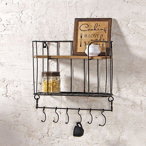 Claudia Rustic wall shelf
