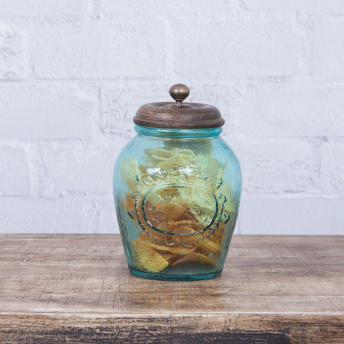 Alicia Aqua Glass Container 2