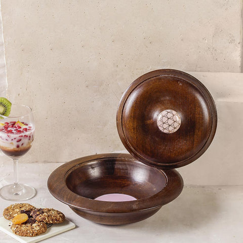 Buy Coffee Pink Wooden Bowl online